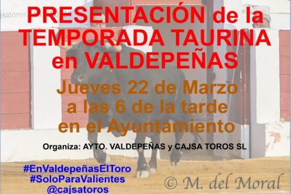 PRESENTACIÓN DE LA TEMPORADA TAURINA EN VALDEPEÑAS