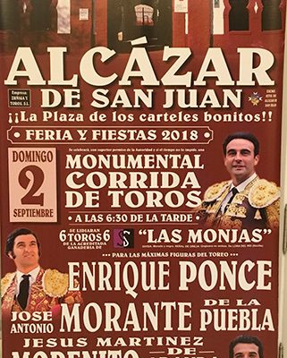 Gran cartel en Alcázar de San Juan