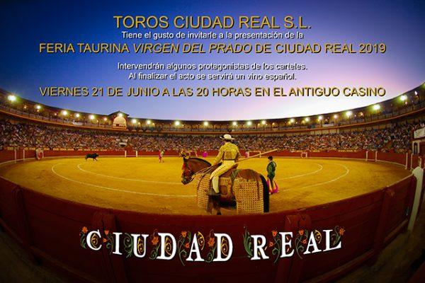 TOROS CIUDAD REAL S.L. PRESENTA LA FERIA TAURINA DE CIUDAD REAL EL VIERNES 21 DE JUNIO