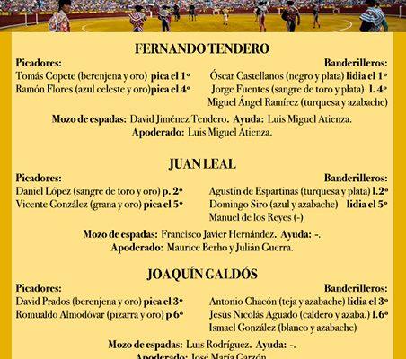 LAS CUADRILLAS DE HOY. LUNES 19