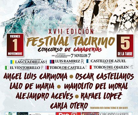 EL TRADICIONAL FESTIVAL TAURINO DE ALCÁZAR DE SAN JUAN YA TIENE PROTAGONISTAS