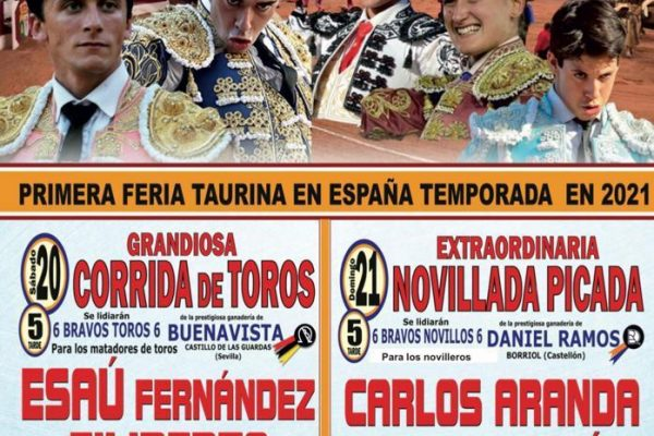 CARLOS ARANDA INAUGURA LA TEMPORADA TAURINA 2021